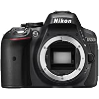 Nikon D5300 SLR-Digitalkamera (24,2 Megapixel, 8,1 cm (3,2 Zoll) LCD-Display, Full HD, HDMI, WiFi, GPS, AF-System mit 39 Messfeldern) nur Gehäuse schwarz