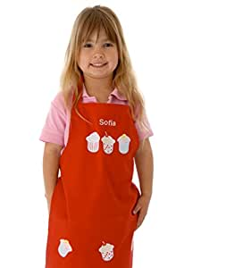 Personalised Cupcake Apron - Red