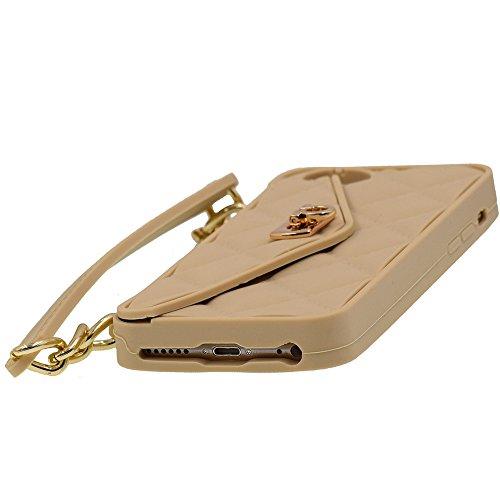 iPhone 6/6S 4.7 Hülle, BENKER Multifunktions-Upscale Stoßdämpfend Silikon TPU Geldbörse Telefon Fall Schutzhülle Für und Ketten Schulterriemen - Schwarz Khaki