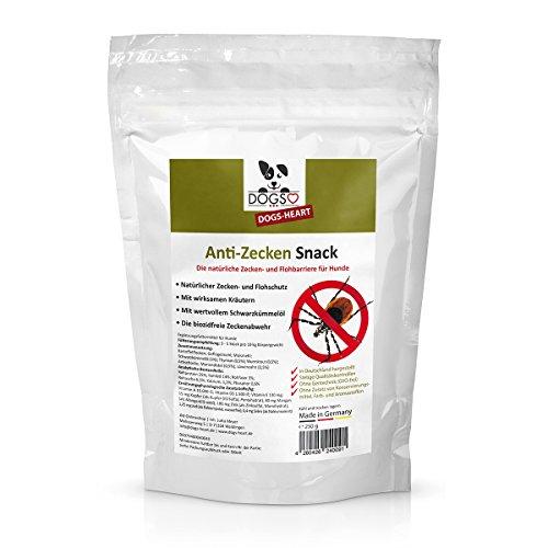Dogs-Heart Anti-Zecken Snack (250g) für Hunde - Natürlich Abwehr Gegen Zecken, Flöhe und Milben - Auch für Welpen Geeignet