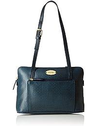 Hidesign leather Women's Handbag NYLE 3 (Blue)