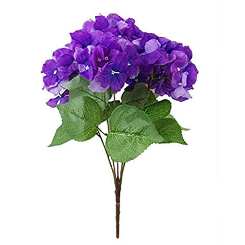 Artificial Flowers,Clode® Artificial Hydrangea Silk Fake 5 Heads Flower Wedding