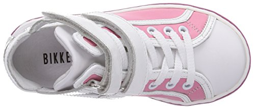 Bikkembergs Sandy Mid G78, Baskets Fille Multicolore (Leather/Patent Pink/Grey)