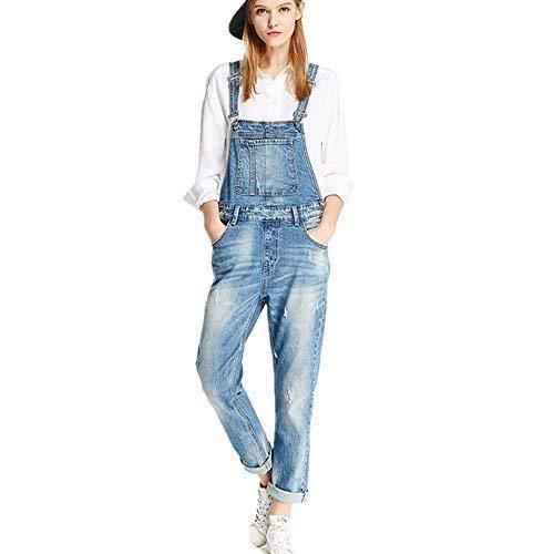 TRACK SEVEN Damen Kleidung Blue Jeans Denim Overall mittel blau