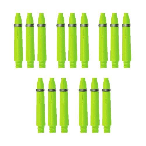 Preisvergleich Produktbild Dart Schäfte mit Federring - Länge ca. 3,0 cm - Neongrün - 15 Stück