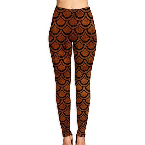 CVDGSAD Women Power Yoga Pants Red Carp Fish Scale Basic Active Workout Leggings - Supplex Yoga-hose