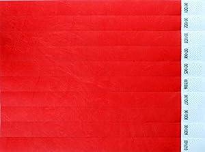 CARTALOTO-1000 - Pulseras de identificación Tyvek 19 mm - Red, BITSRE, Multicolor