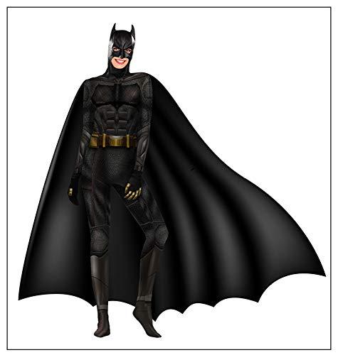 t Superman Kostüme Kinder Justice League Superhelden Kostüme,Party Movie Cosplay Overall Kostüm,Halloween Karneval Kostüm,Black-S ()
