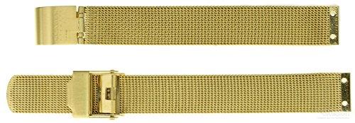 Uhrenarmband für Skagen Denmark Ersatzband 224SGG Mesh Edelstahl IP gold 16mm (Skagen Watch Gold Mesh Damen)