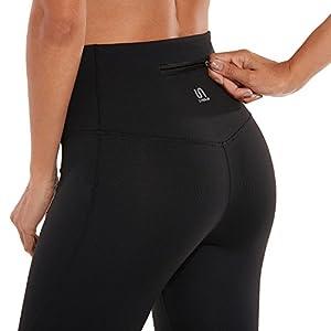 SYROKAN Damen Hohe Taille Sport Hose – Dehnbar Leggings mit Tasche