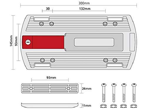 KLICKfix Zubehör Gepäckträger-Adapterplatte, 0208 - 3