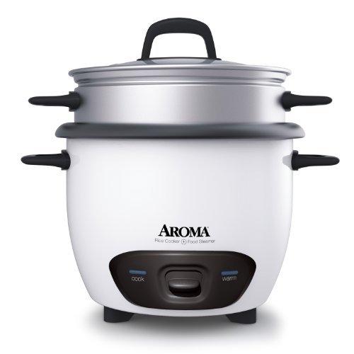 Aroma-6(gekocht) (für 3Tassen uncooked) Topf-Stil Reiskocher und Dampfgarer (arc-743–1NG) von Aroma - (Reiskocher Aroma)