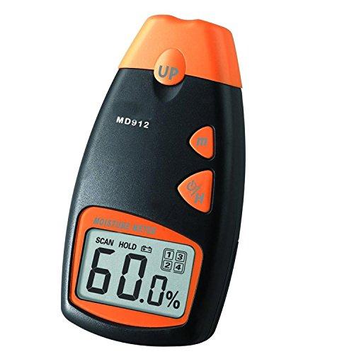 Humidimetre - SODIAL(R)MD912 Outils numeriques Humidimetre pour Bois, Sheetrock, Tapis, 2-Pin Capteur (gamme 2% - 70% HR; Precision: 0.5%)