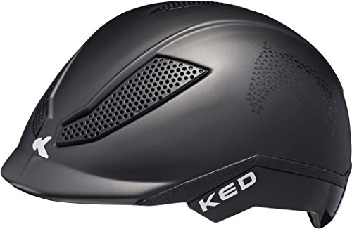 KED Pina Helmet Kids Black Matt Script Kopfumfang S   50-53cm 2018 Fahrradhelm