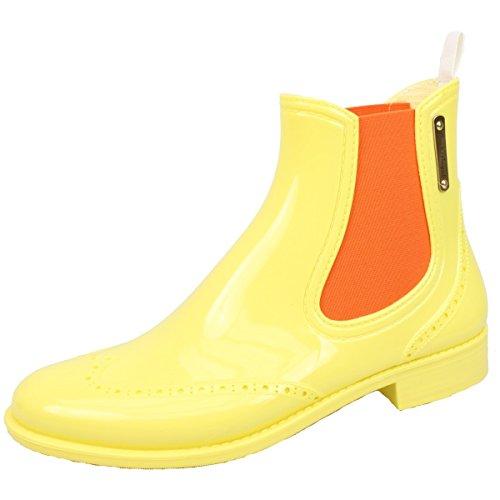 Bockstiegel Damen Chelsea Gummistiefelette gelb