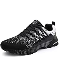 SOLLOMENSI Mens Womens Running Shoes Trainers Sports Gym Walking Jogging Athletic Fitness Outdoor Sneakers