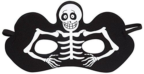 Widmann vd-wdm9315s Maske Skelett, schwarz, one Size (Maske Kinder Skelett)