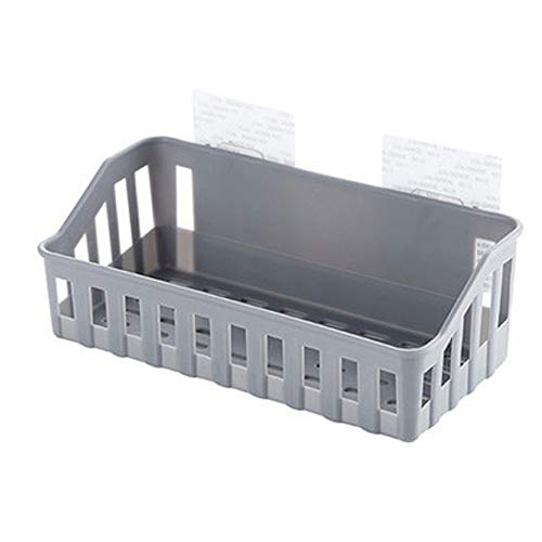 Xshuai Küchen-Badezimmer-Wand-Speicher-Regal-hängendes Gestell-Ecken-Korb-Halter-Organisator (hellgrau) - Chrom-speicher-korb