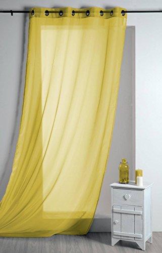 Lovely casa r61290008 vl lisa-tenda in cotone, 135 x 260 cm, colore: giallo