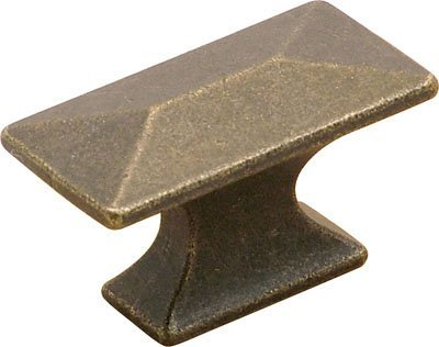 Belwith Windover Antique (Belwith Keeler Bungalow Collection 1 3/4 Rectangle Cabinet Knob Windover Antique by Hickory Hardware)