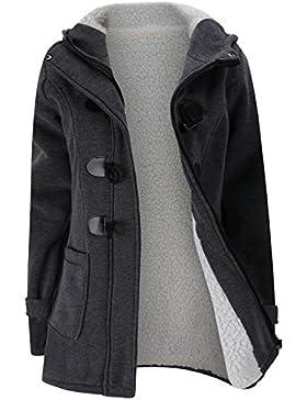 Grueso Calentar Full Fleece Forrado con Capucha Hood Hoodie Algodón Trenca Coat Capa Abrigo Jacket Cazadora Chaqueta...