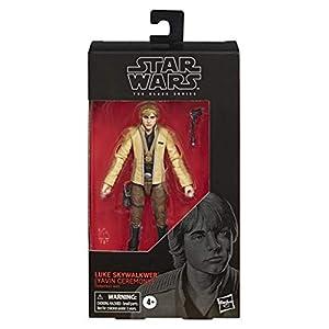 Star Wars - Figura de acción de Luke Skywalker (ceremonia de Yavin) de Black Series (Hasbro E4086EL2)