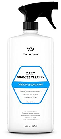 Granite Cleaner and polish for Daily Use - Enhances Shine and goes on Streakless - best for Countertops, Marble, Stone, Bathroom Kitchen, Islands and more. 18oz Trinova - Pietra Naturale Della Roccia