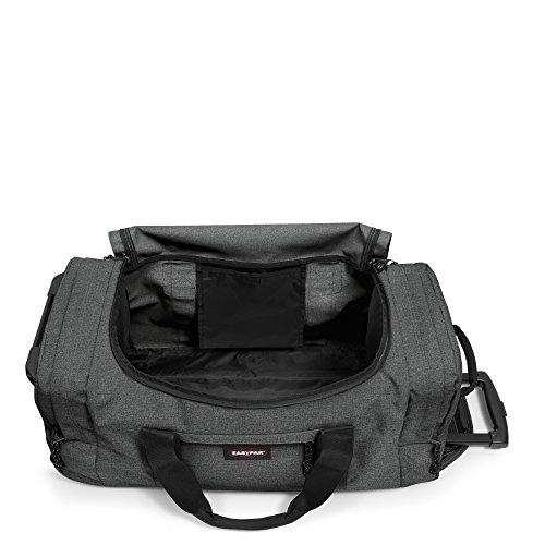 Eastpak Reisetasche LEATHERFACE M, 61 liter, 68.5 x 32 x 34.5 cm, Sunday Grey Black Denim