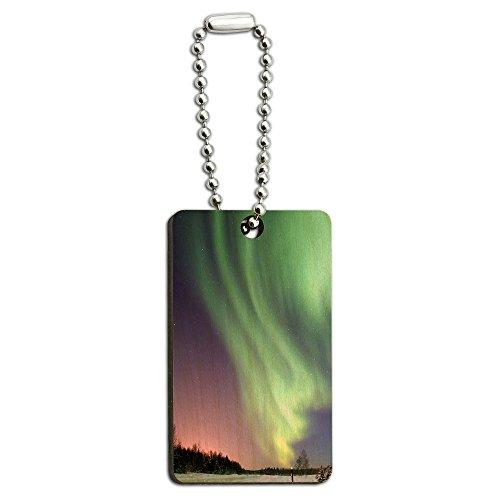 aurora-borealis-alaska-sky-holz-rechteck-schlussel-kette