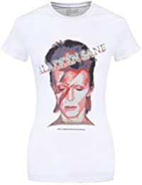 David Bowie Aladdin Sane (White)' Womens Fitted T-Shirt
