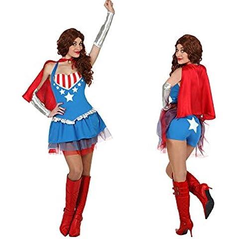 Disfraz superheroína mujer Talla M neutro