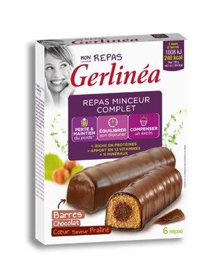 Gerlinéa - Barres repas chocolat coeur praliné Gerlinéa
