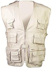 Highlander Waist Coat - Chubasquero para mujer, color beige, talla S