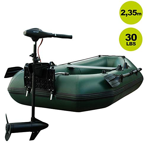 Schlauchboot mit Motor: Setangebot Prowake Angelboot Luftboden IBA 250 mit Elektromotor PSM30
