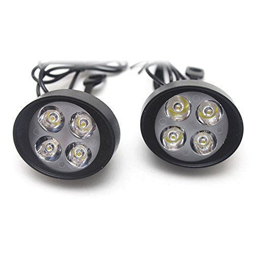KKmoon LED Faros Delanteros Lámpara Conducción Auxiliar de Luz para Universal Motocicleta