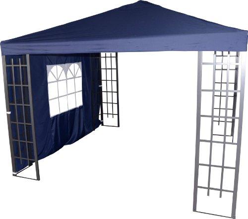 Pavillon Seitenteil Royal blau mit Fenster 3x1,9 Meter