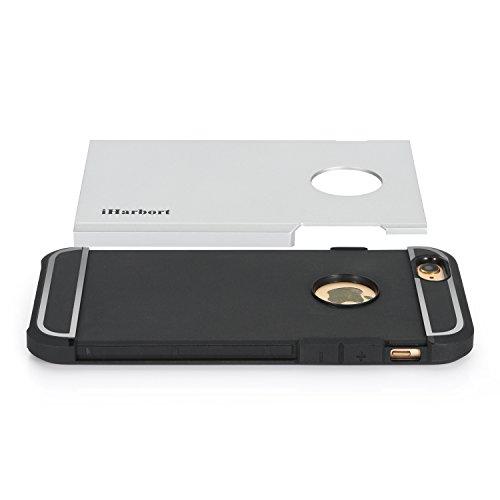 iPhone 6S Coque - iHarbort® armure ULTRA iPhone 6 6S Coque Case silicone Etui avec double couche choc Absorbion fonction iPhone 6 Cover - meilleur iPhone 6S Case (argent) argent