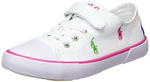 Polo Ralph Lauren Kody, Sneakers Basses mixte enfant - Blanc - Weiß (white canvas-multi), 22