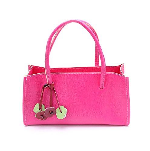 Dairyshop Donne Tote Donna Borsa a tracolla Messaggero di Satchel Borsa della borsa della spesa (rosa) rosa caldo