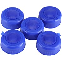 Zerodis 3 y 5 galones de Tornillo en Las Tapas Anti-Splash Botella de Agua Snap On Cap Peel Off 5Pcs