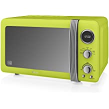 Swan Products Retro Digital Microwave, 20 Litre, 800 W, Lime Green by Swan Products Ltd