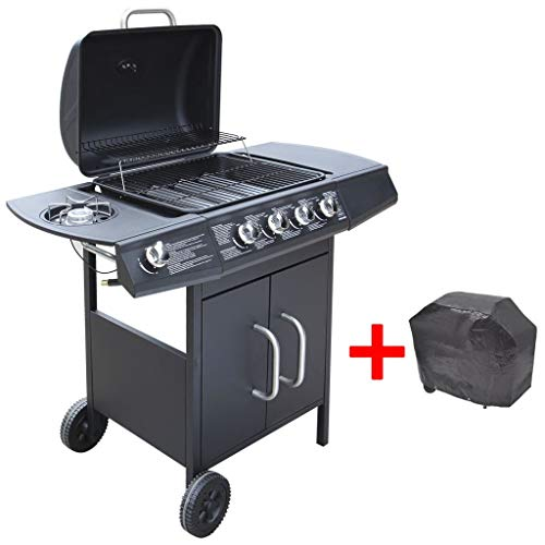 """41fxX5PR7JL. SS500  - Winzwon BBQ Grill Mat, Set of 5 Non Stick Barbecue Grill & Baking Mats Reusable and Easy to Clean Works on Gas, Charcoal, Electric Grill and Oven Bonus 12"""" BBQ Tongs and Silicone Brush"""