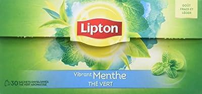 Lipton Thé Vert Menthe 30 Sachets - Lot de 6