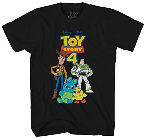 Disney Herren T-Shirt Toy Story 4 Group Graphic Tee - Schwarz - X-Groß Toy Story T-shirts