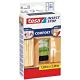 tesa 5 x Fliegengitter Insect Stop Comfort Tür 0,65x2,20m 2 Stück anthrazit