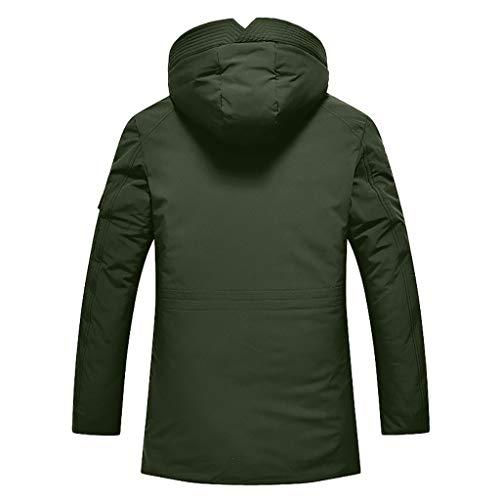 Setsail Der Herbst-Winter-beiläufige Taschen-Knopf-Reißverschluss Hoodie der Art- und WeiseHerren thermischer Decklack -