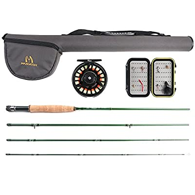 Maxcatch Premier Fly Fishing Rod Combo, Rod and Reel Outfit, 5/6 weight by Maxcatch