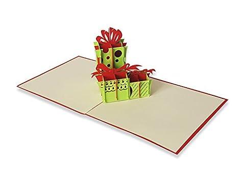 Yokarta 3D Pop-Up Klapp-Karten zum Geburtstag   Originelle Handgemachte Geburtstagskarte