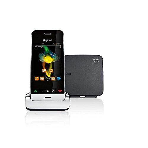 Gigaset SL930A Telefon - Schnurlostelefon / Mobilteil - mit Farbdisplay - Anrufbeantworter / schnurloses Telefon / Design Telefon - schwarz