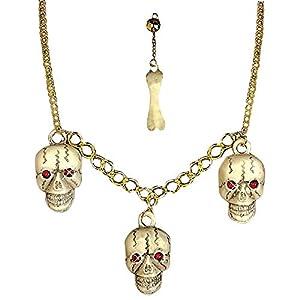 WIDMANN Set de accesorios cráneo y hueso adulto Halloween - Única